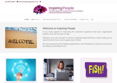 Inspiring People – redesign
